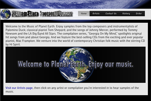Planetearthrec.com – website design by Jason Davis