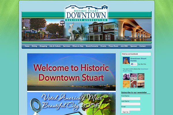 Historicdowntownstuart.com – Website maintenance services by Jason Davis