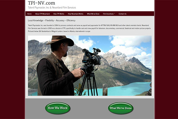 TPI-NV.com – Website design by Jason Davis